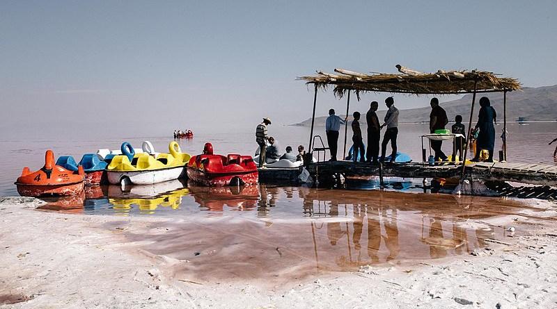 Lake Urmia in Iran. Photo Credit: Solmaz Daryani, Wikipedia Commons