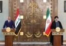 Prime Minister of Iraq Mustafa al-Kadhimi with Iran's President Ebrahim Raisi. Photo Credit: Tasnim News Agency