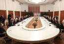 Meeting between Iran and Tajikistan officials. Photo Credit: Tasnim News Agency