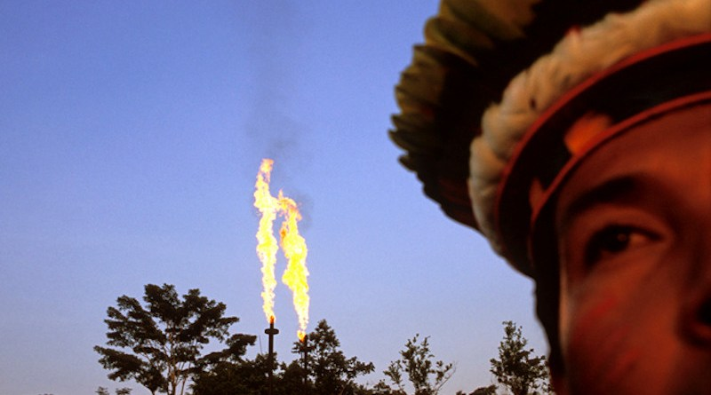 Gas flares in Lago Agrio oil field, Ecuador. Photo Credit: Aperture, Wikipedia Commons