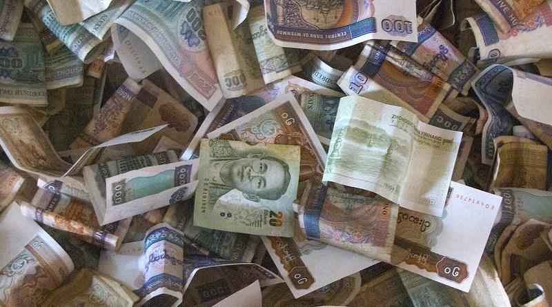 kyat currency money banknotes myanmar burma