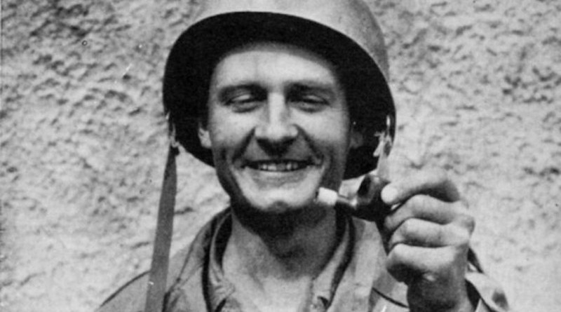 Fr. Kapaun with his pipe. Courtesy of the Diocese of Wichita./ null