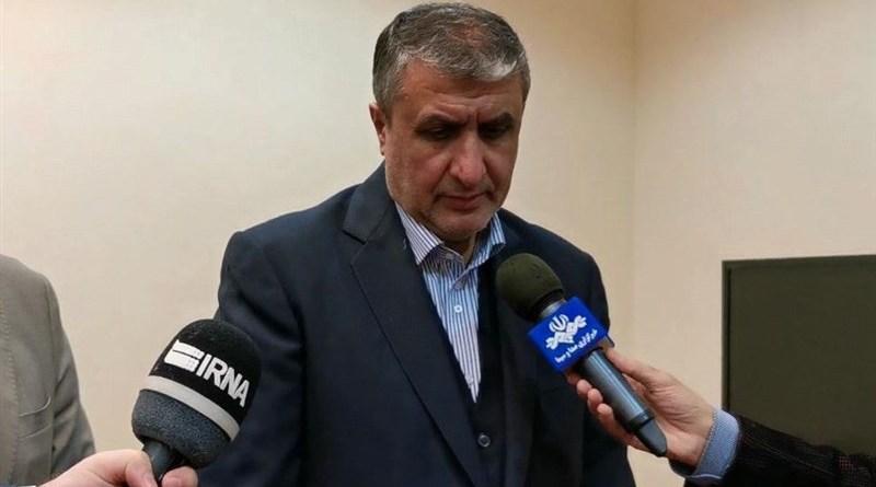 Head of the Atomic Energy Organization of Iran (AEOI) Mohammad Eslami. Photo Credit: Tasnim News Agency