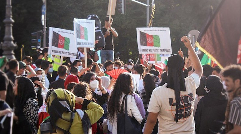 Afghans in Germany protesting against Taliban violence, August 14, 2021. Source: Wikimedia Commons.