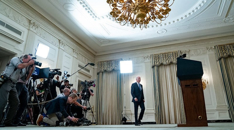 File photo of US President Joe Biden speaking to the press. (Official White House Photo by Erin Scott)