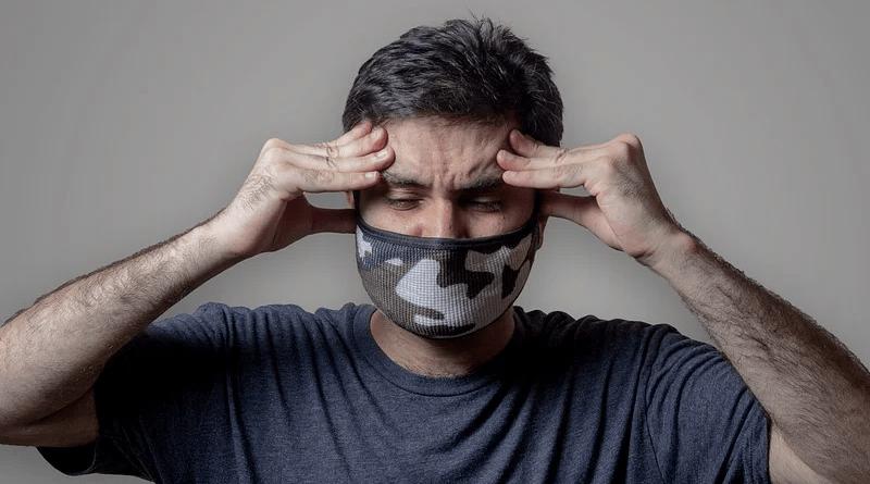 coronavirus covid-19 Man Headache Face Mask Model Flu Mask Mask