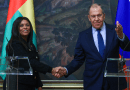 Russian Foreign Minister Sergey Lavrov with Guinea-Bissau's Suzi Carla Barbosa. (Photo supplied)
