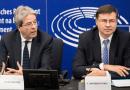 Commissioner Gentiloni and Executive Vice-President Dombrovskis in Strasbourg. [EC - Audiovisual Service: Elyxandro Cegarra]