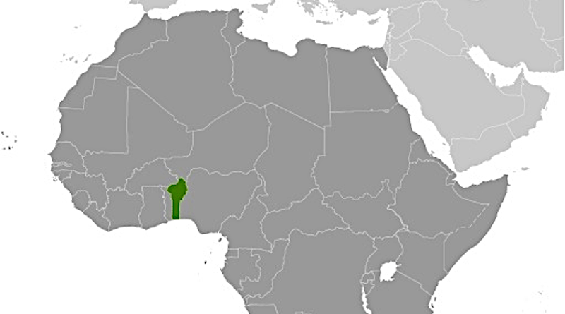 Location of Benin in Africa. Credit: CIA World Factbook