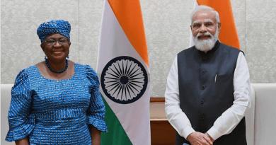 WTO DG Ngozi Okonjo-Iweala meets with India's Prime Minister, Narendra Modi, in New Delhi.