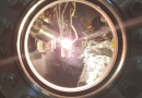 The picture shows the glowing filament which keeps the sample at constant temperatures during the measurements. CREDIT: HZB