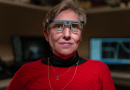 Berna Gómez of Spain spent six months working with researchers to test an experimental visual prosthesis which used an electrode array implanted into her brain's visual cortex. Gómez has been fully blind for more than 18 years. CREDIT: John A. Moran Eye Center at the University of Utah