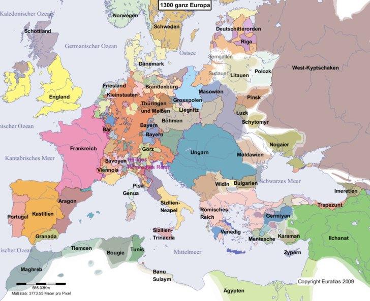 karte von europa im jahre 1300