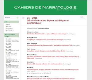couverture des Cahiers de narratologie