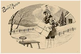 carte postale de Noël italienne -