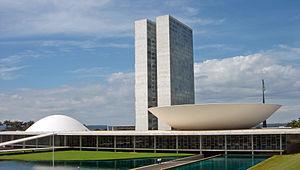 Batiment du Congrès à Brasilia