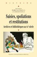couverture du livre Saisies, spoliations et restitutions