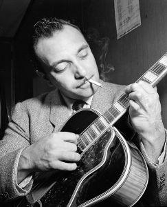 Django Reinhardt at the Aquarium jazz club in New York, NY / photogr. W. P. Gottlieb, 1946