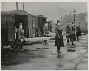 photo des ambulanciers de la Croix rouge (USA), 1917