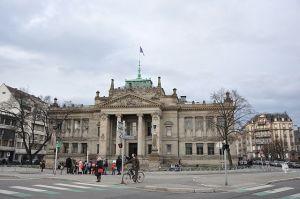 Facade du Palais de justice de Strasbourg