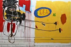 Tableau de Basquiat avec signature couronne