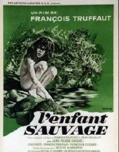 Affiche du film de Truffaut L'enfant sauvage