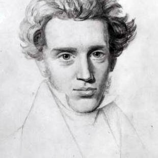 Portrait au crayon de Kierkegaard vers 1840