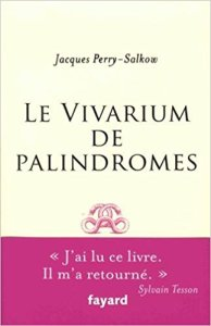couverture du livre Vivarium des palindromes