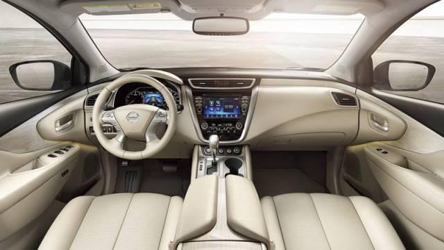 2017-Nissan-Murano-steering-wheel-dashboard-lcd-screen-gear-shift-knob