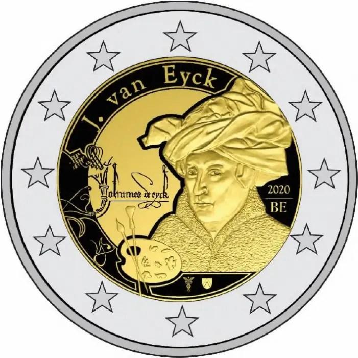 euro coin jan van eyck year 2020