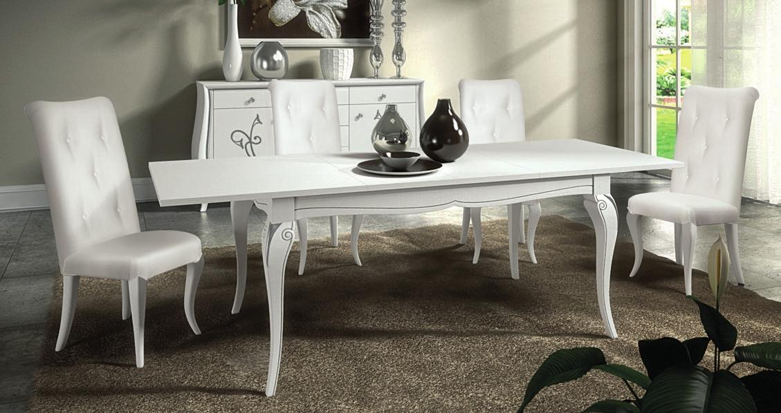 tavolo rettangolare allungabile (con sedie a parte). Tavoli E Sedie Contemporanee Euro Mobili