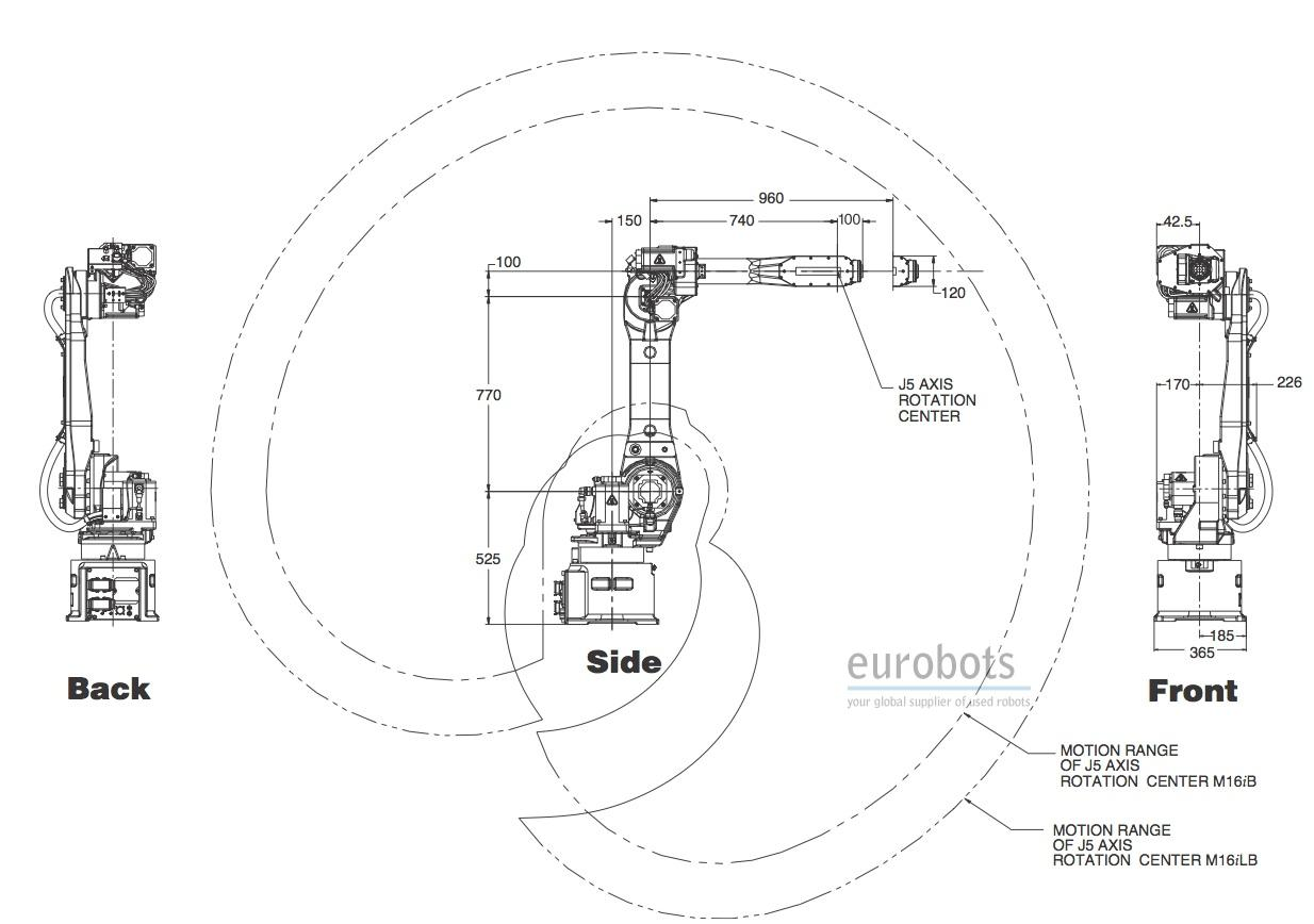 Robot Fanuc M16ib 10l