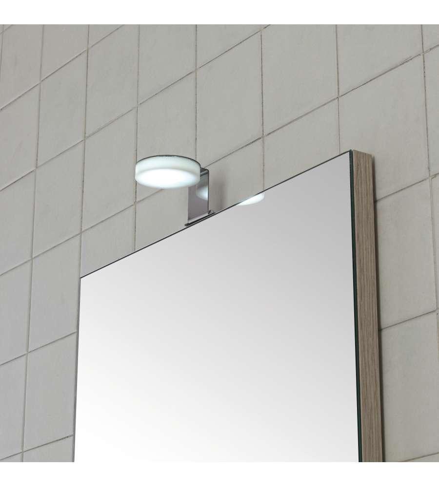Scopri una vasta scelta di illuminazione a led per bagno da leroy merlin: Lampada A Led Universale In Acciaio E Plexiglass Per Specchio Bagno Larghezza 5 5 Cm Da 4 Watt