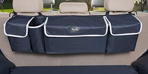 YoGi Prime Trunk and Backseat car Organizer, Trunk Storage Organizer Will Provides You The Most Storage Space Possible, Use It As A Back Seat Storage Car Cargo Organizer Black (Hanging Black)