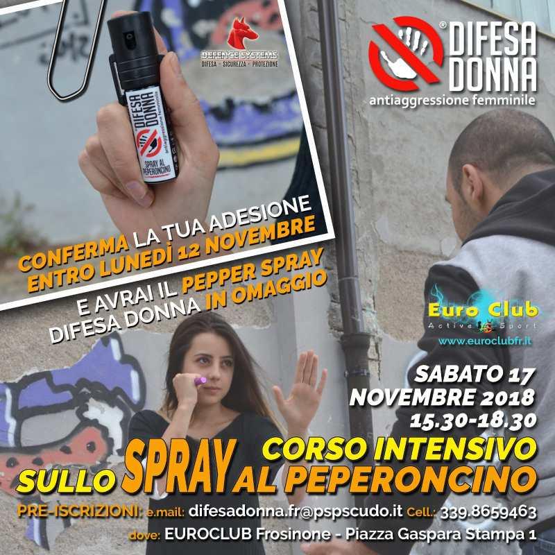 difesa personale difesa donna spray peperoncino
