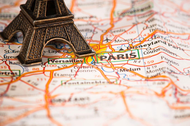 mapa da franca