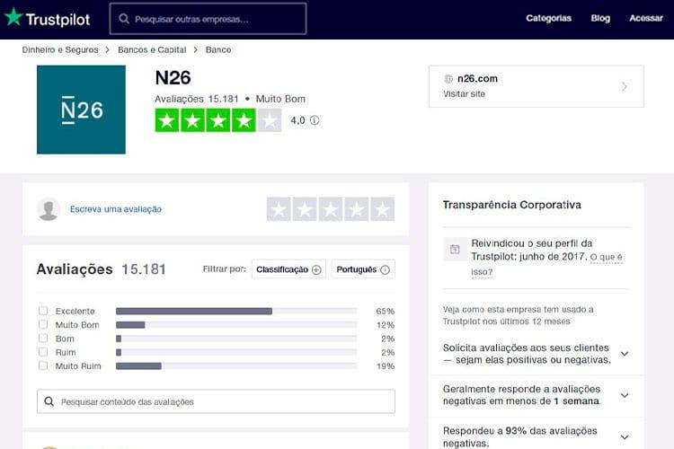 N26 Trustpilot