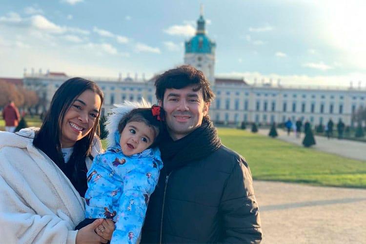 bárbara e a família em Berlim