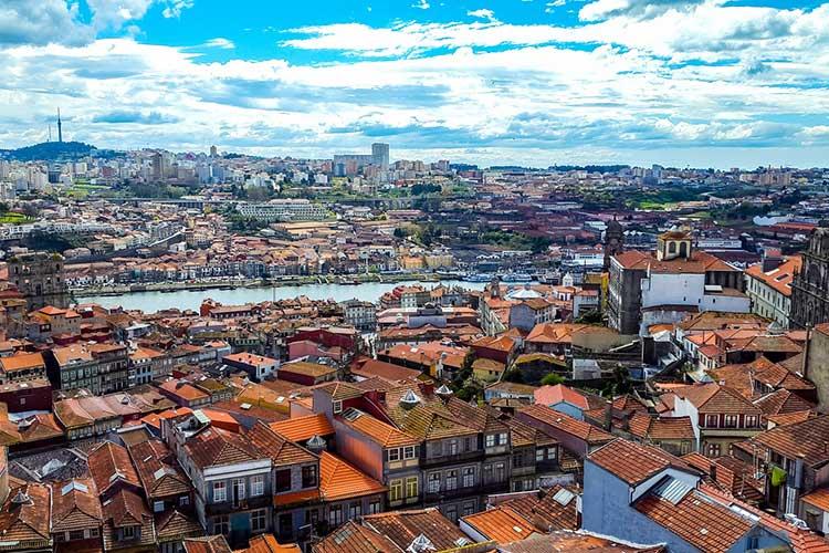 Vista aérea do Porto