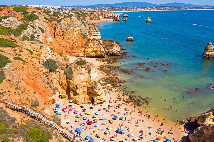 Lagos uma cidade de praia do Algarve