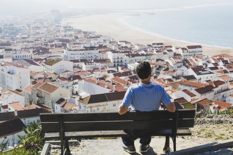 Vista de Nazaré em Portugal