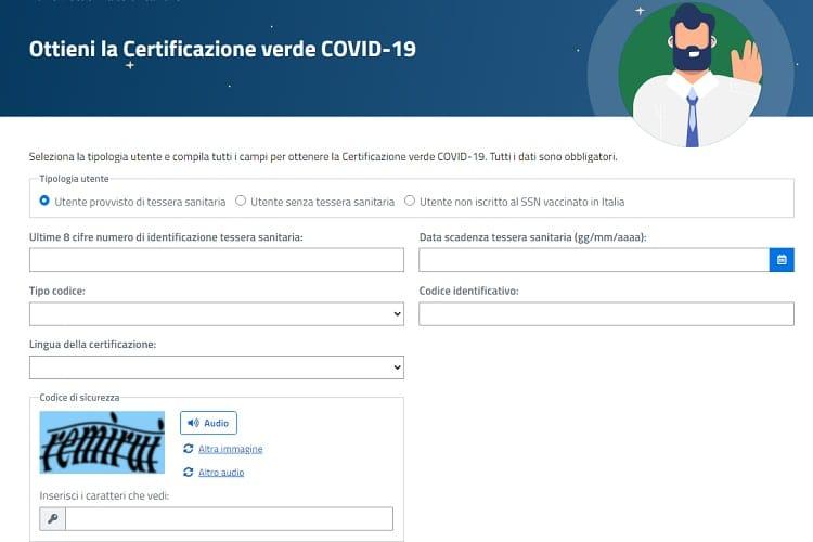 Certificado de vacinação covid-19 Itália