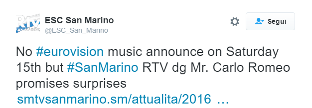 Tweet San Marino RTV