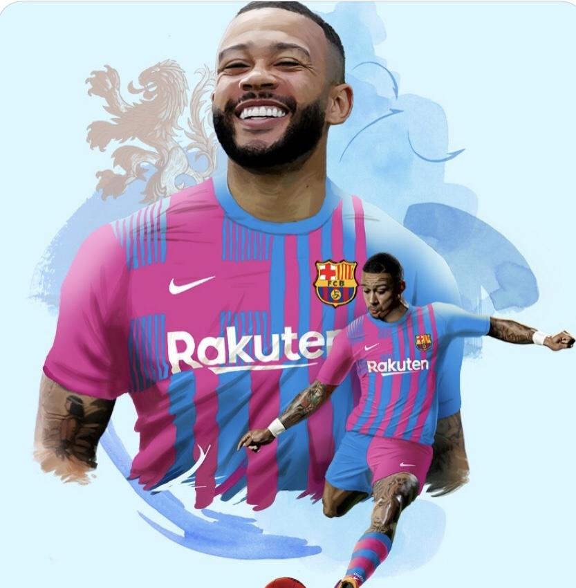 Memphis Depay signe au FC Barcelone  capture d'écran compte Twitter @FCBARCELONA