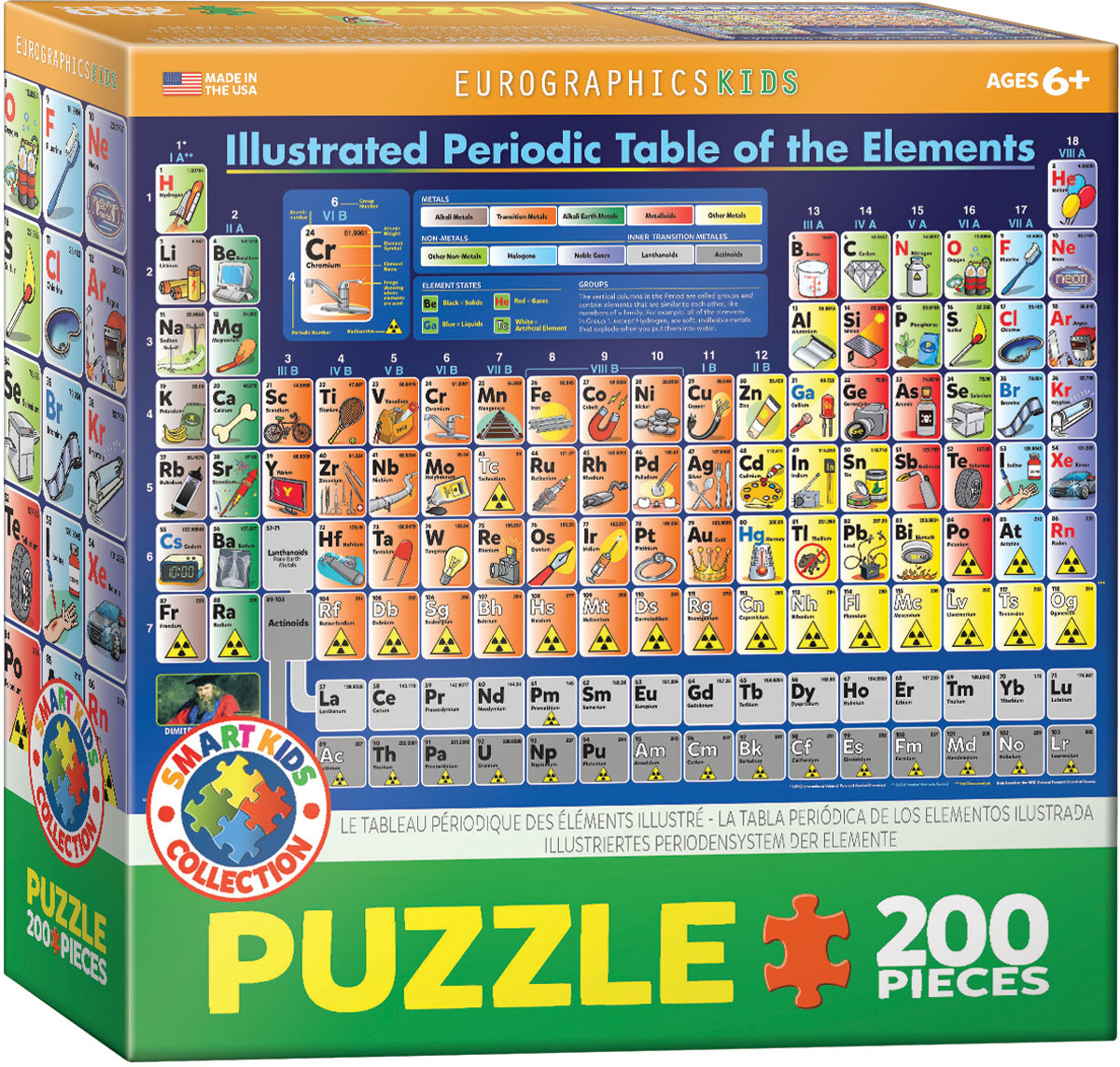 Periodic Table Illustrated Jigsaw Puzzles At Eurographics