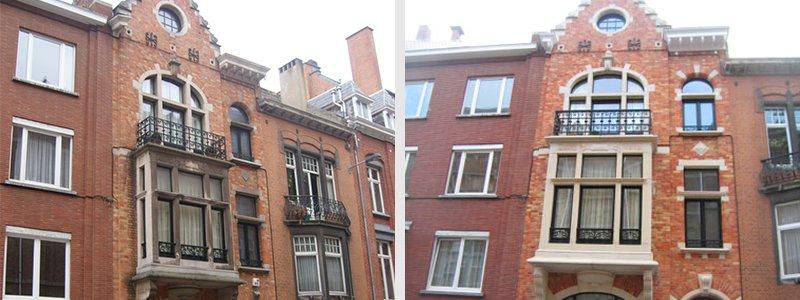 Nettoyage de façade soigné à Bruxelles