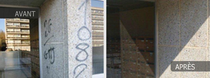Traitement anti Graffitis