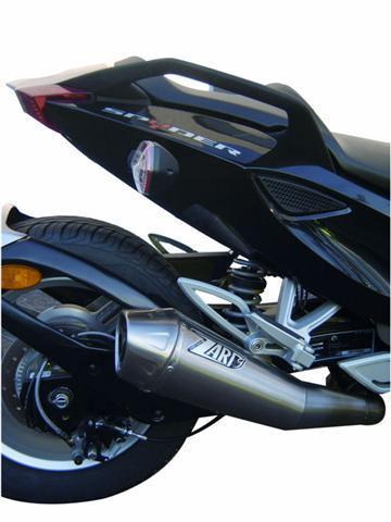 zard exhaust for can am spyder conical round stainless steel 2 db killer racing