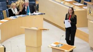 Diputada Bodil Ceballos en el Parlamento Sueco. Foto: Parlamento Sueco