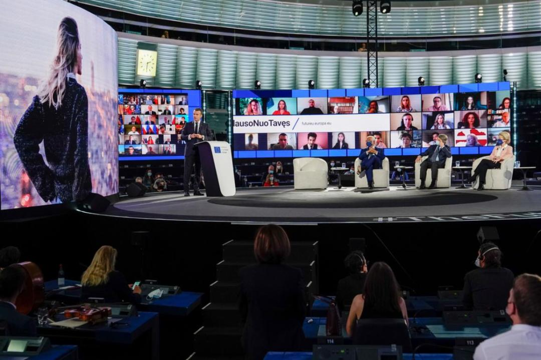The event brought together the Presidents of the EU, President Macron, the Co-Chairs of the Executive Board and citizens from across Europe..jpg